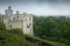 Castello di Warwick un giorno bagnato Immagini Stock Libere da Diritti