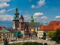 Castello di Wawel a Cracovia Fotografie Stock