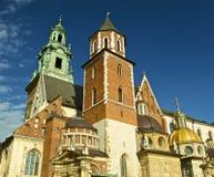 Castello di Wawel a Cracovia di giorno fotografia stock libera da diritti