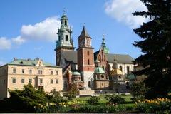Castello di Wawel. Cracovia. La Polonia. fotografia stock libera da diritti