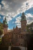 Castello di Wawel a Cracovia Polonia fotografia stock libera da diritti