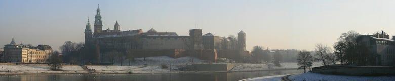 Castello di Wawel a Cracovia Polonia Immagini Stock Libere da Diritti