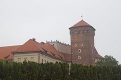Castello di Wawel, Cracovia, Polonia Fotografie Stock Libere da Diritti