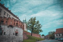 Castello di Wawel a Cracovia immagini stock libere da diritti