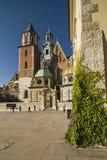 Castello di Wawel a Cracovia un bello giorno Immagini Stock