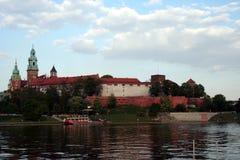 Castello di Wawel su Vistula Fotografie Stock Libere da Diritti