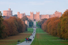 Castello di Windsor al tramonto in autunno Fotografie Stock