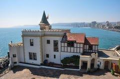 Castello di Wulff in Vina del Mar, Cile Fotografia Stock