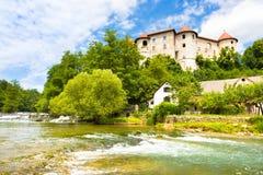 Castello di Zuzemberk, destinazione turistica slovena Immagine Stock Libera da Diritti