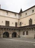 Castello di Zvolen nella città di Zvolen slovakia fotografie stock libere da diritti