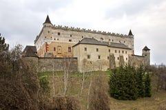 Castello di Zvolen nella città di Zvolen slovakia fotografie stock