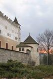 Castello di Zvolen nella città di Zvolen slovakia fotografia stock libera da diritti