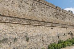 Castello difensivo di Kyrenia della parete immagine stock libera da diritti