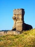Castello distrutto dell'argilla di Palenzuela immagine stock libera da diritti