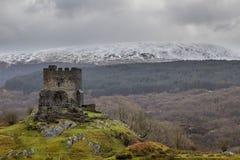 castello dolwyddelan Galles del nord, Regno Unito Immagine Stock