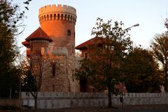 Castello Dracula di Vlad Tepes fotografie stock
