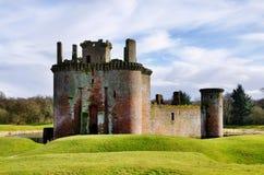 Castello, Dumfries e Galloway di Caerlaverock. Fotografia Stock