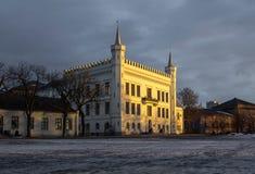 Castello durante il tempo di tramonto immagine stock