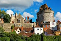 Castello e case di Windsor Fotografie Stock Libere da Diritti