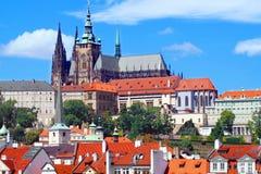 Castello e cattedrale del san Vitus a Praga Fotografia Stock