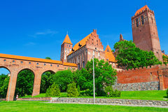 Castello e cattedrale di Kwidzyn Fotografia Stock