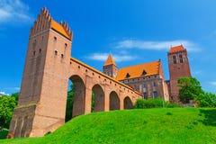 Castello e cattedrale di Kwidzyn Fotografie Stock