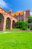Castello e cattedrale di Kwidzyn Immagine Stock