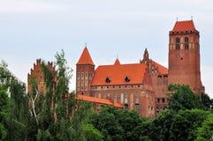 Castello e cattedrale di Kwidzyn Fotografia Stock Libera da Diritti