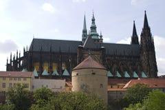 Castello e cattedrale di Praga Fotografie Stock Libere da Diritti