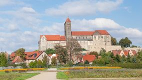 Castello e chiesa in Quedlinburg video d archivio