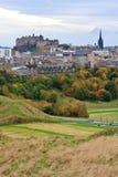 Castello e città di Edinburgh Fotografie Stock Libere da Diritti
