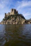 Castello e fiume di Almourol Fotografia Stock