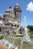 Castello e fontana Fotografia Stock