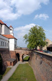 Castello e fossato di Spilberk fotografia stock libera da diritti