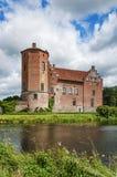 Castello e fossato di Torups fotografie stock libere da diritti
