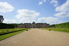 Castello e giardini francesi, Francia immagini stock