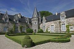 Castello e giardino Immagine Stock