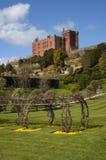 Castello e giardino di Powis Fotografia Stock