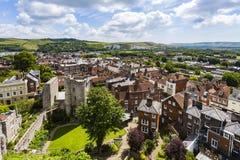 Castello e paesaggio di Lewes Immagine Stock