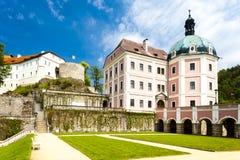 Castello e palazzo di Becov nad Teplou Immagini Stock