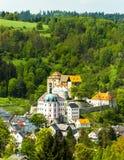 Castello e palazzo di Becov nad Teplou Fotografia Stock