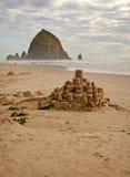 Castello e roccia Fotografia Stock