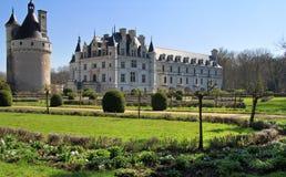 Castello e torretta di Chenonceau immagine stock