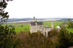 Castello e valle di Newschwander Immagini Stock Libere da Diritti