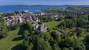 Castello e villaggio di Killyleagh basso della contea, Irlanda del Nord immagini stock