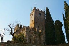 Castello ed alberi, Conegliano, Veneto, Italia Immagini Stock Libere da Diritti