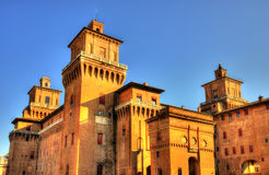 Castello Estense or castello di San Michele in Ferrara Stock Images