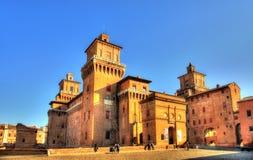 Castello Estense eller castello di San Michele i Ferrara Fotografering för Bildbyråer