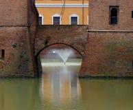 Castello Estense en Ferrara Imagen de archivo libre de regalías