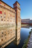 The Castello Estense in Ferrara in Italy Stock Image